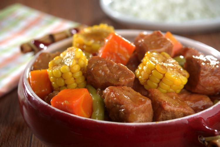 Favoritos Cozido de Lombo e Milho   Escolha Mais Carne Suína GV21